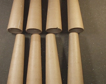 """Cardboard Cones,  8 Cones ,Sturdy, Lightweight   6 3/4/"""" inches high Customize the Size / Choose  a size"""