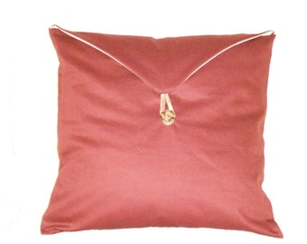 Dark Red Pillow Cover