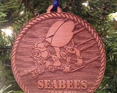 SEABEES Wooden Ornament
