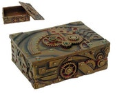 Steampunk Box Hand Painted