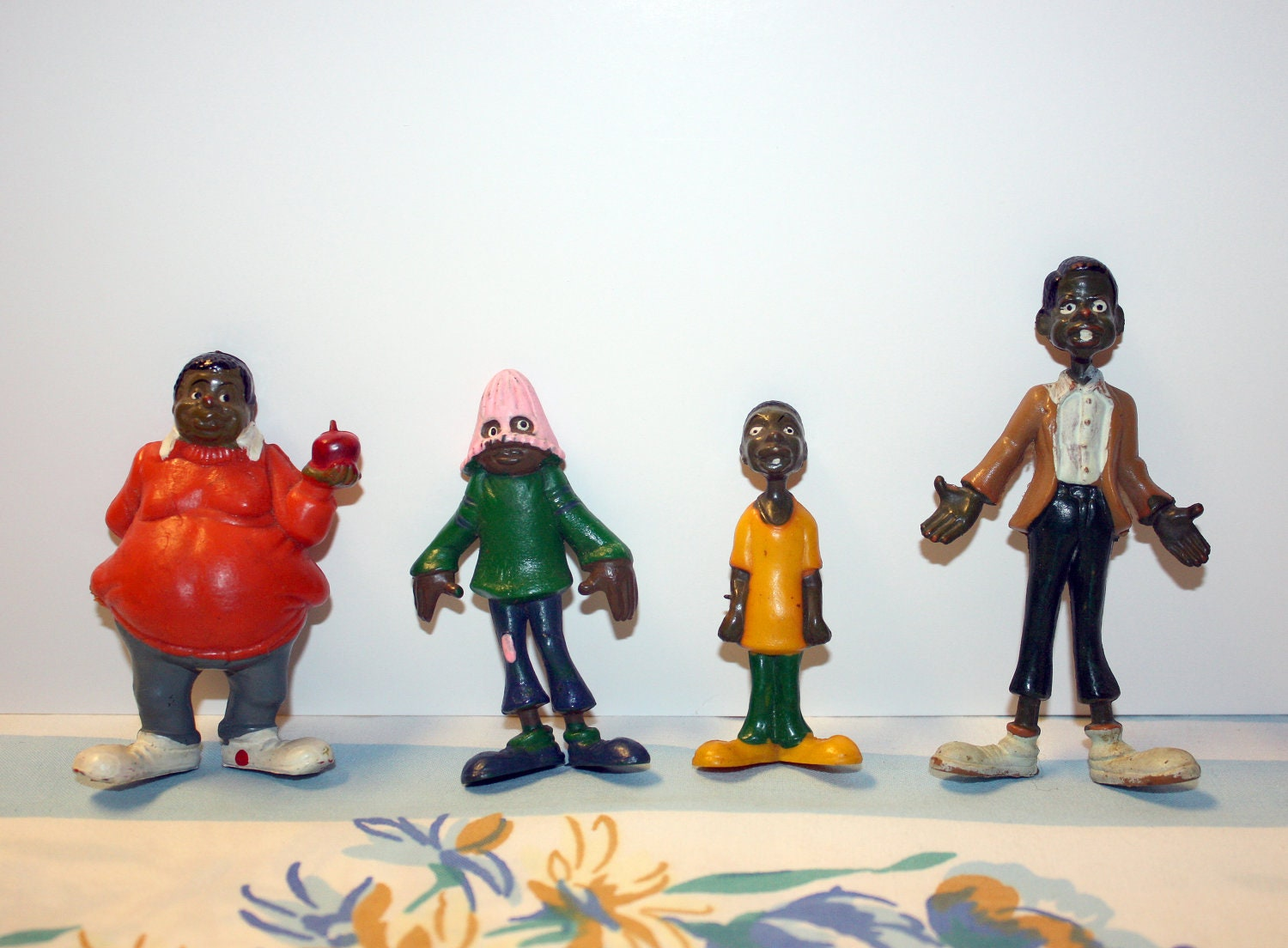 Four Vintage 72 Fat Albert Figures