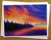 Evening on the Kobuk, A set of 4 blank greeting cards