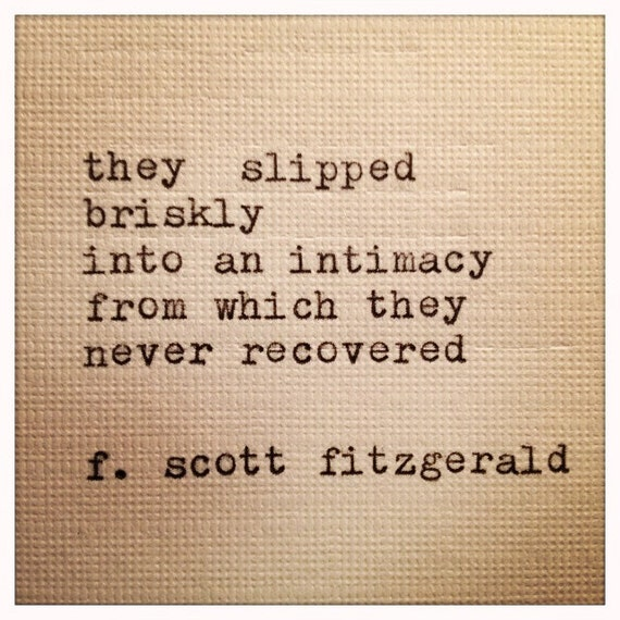 F Scott Fitzgerald Love Quotes: Unavailable Listing On Etsy