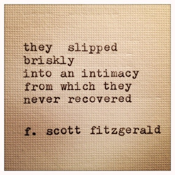 F Scott Fitzgerald Quotes About Love : Scott Fitzgerald Framed Love Quote Made On Typewriter
