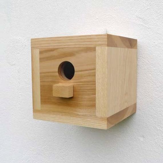 Birdhouse Wooden Bird House Modern Craftsman Minimalist
