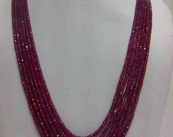 Ruby Faceted beads Necklace