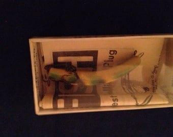 Vintage Helin Flatfish fishing lure