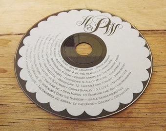 Custom Printed cd Labels - wedding favors, client photography portfolios, Printed cd/dvd Labels