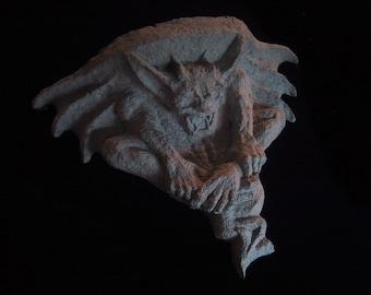 Paper Mache Gargoyle Shelf - Unique Gothic Decoration
