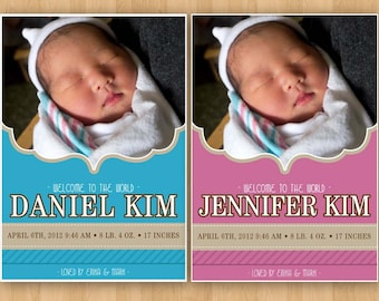 Customizable Photo Baby Announcement