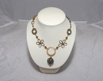 Handmade Vintage Flower Necklace