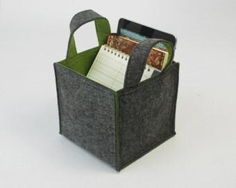 Felt Household Storage Container Basket Bin Felt Storage Box Organizing Case Container E1349