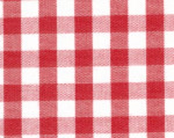 "HALF YARD 1/4"" RED Fabric Finders Gingham"