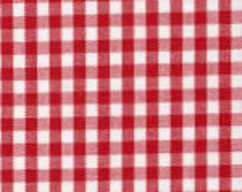 """HALF YARD 1/8"""" RED Fabric Finders Gingham"""
