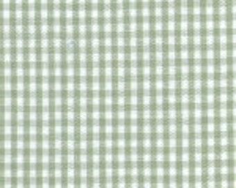"HALF YARD 1/16"" SAGE Fabric Finders Gingham"