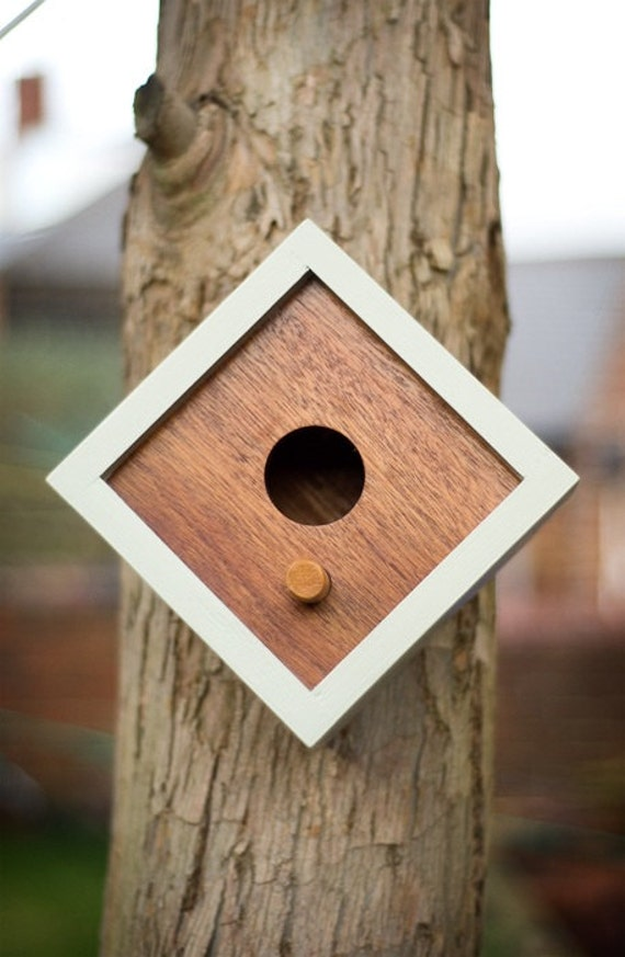 Items Similar To Hand Made Modern Style Wooden Birdhouse