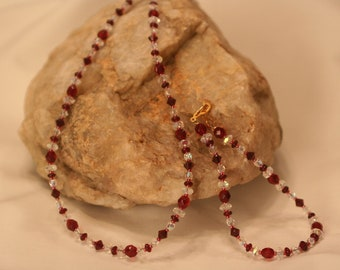 Garnet and Crystal Set (1008)