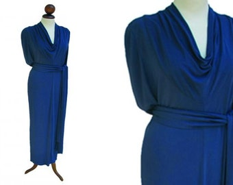 Vintage Lanvin drape collar dress