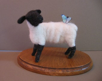 Needle Felted Suffolk Sheep