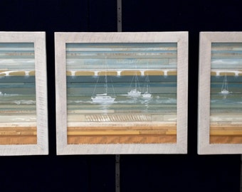 Midday Sails Triptych