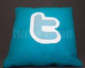 Coussin Twitter t logo