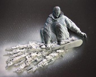 Spotlight Art - Snowboarder
