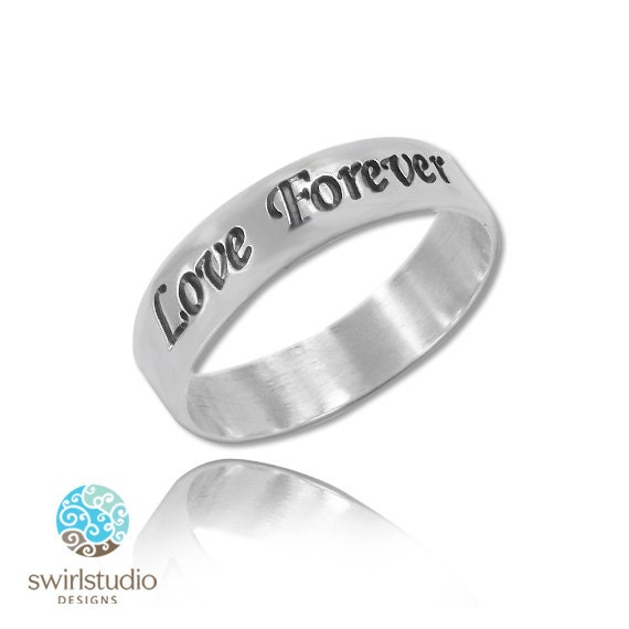 items similar to personalized promise ring rounded