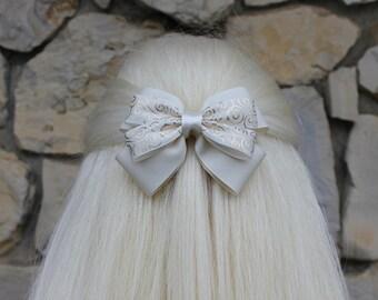 rapunzel wedding hair bow