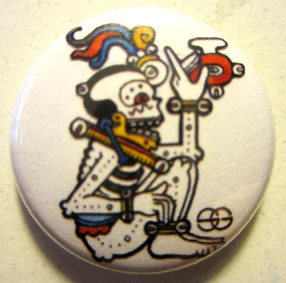 Mayan Death God Button...