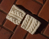 Sale - Knit Boot Cuffs - Ivory Boot Toppers - Acrylic Boot Tops - Cozy Cable Braid Knitting - Gift For Her - Ready To Ship