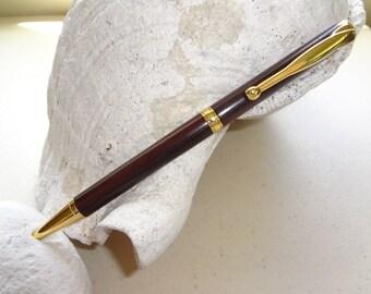 Burmese Rosewood Pen Fancy Slimline Style