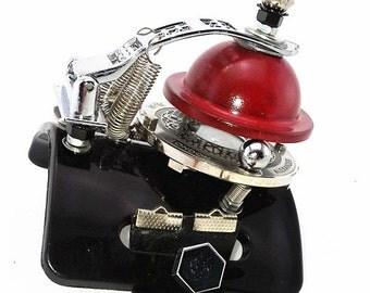 Hi-Tek Alexander handmade Steampunk retro futuristic flip-up cuff watch