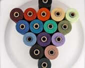 Choose your own colours - 5 colours of  10 yards Irish waxed linen cord 4ply