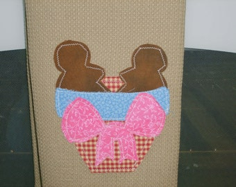 Large Hand Appliqued Country Gingerbread  Dish Towel
