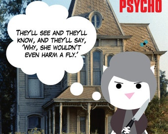 Psycho (Norman Bates), sticker 3.9 x 3.9 in