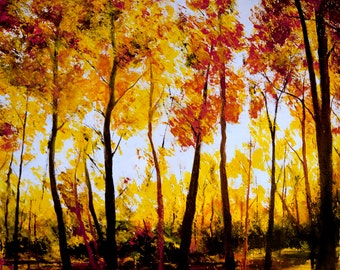 Autumn Number Three original acrylic painting