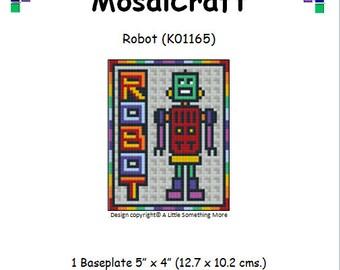 MosaiCraft Pixel Craft Mosaic Art Kit 'Robot' (Like Mini Mosaic and Paint by Numbers)