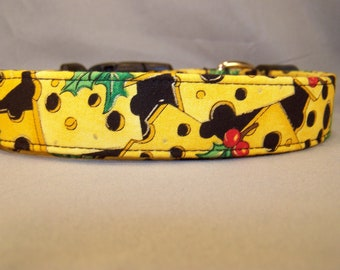Cheese Christmas Dog Collar