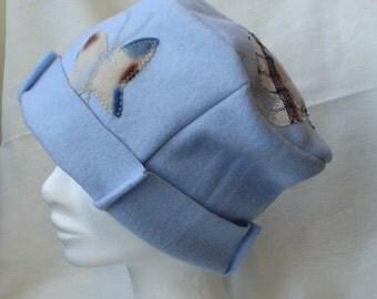 Butterfly  wool hat handmade, cloche felt hat