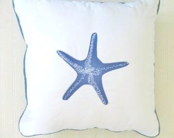 Blue Starfish Pillow