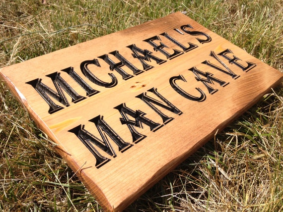 Rustic Man Cave Sign : Personalized man cave sign size rustic by