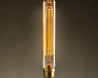 10 antique vintage Tube lamp edison style light bulb 40w 110-220v radiolight T20 squirrel cage