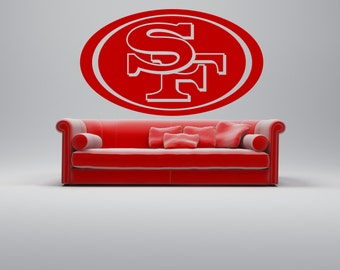 Items similar to sports growth chart vinyl decal on etsy for 49ers wall mural