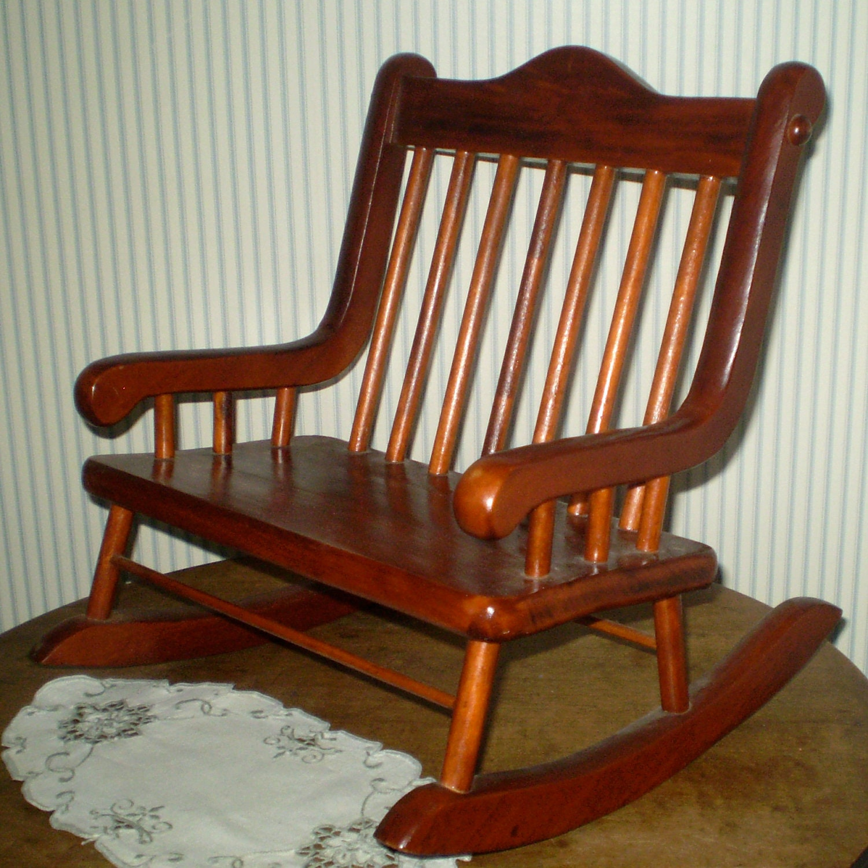 Vintage Doll Rocking Chair Teddy Bear Rocker Wide By