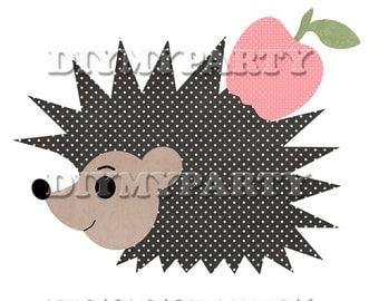 DIY Printable party decor hedgehog Clip Art hedgehog clipart birthday decoration pdf tag digital scrapbooking 240