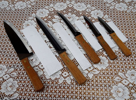 5 Piece Tedron Swords Stainless Steel Knives Japan