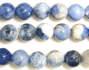 6mm Round Sodalite Gemstone Beads - 9116