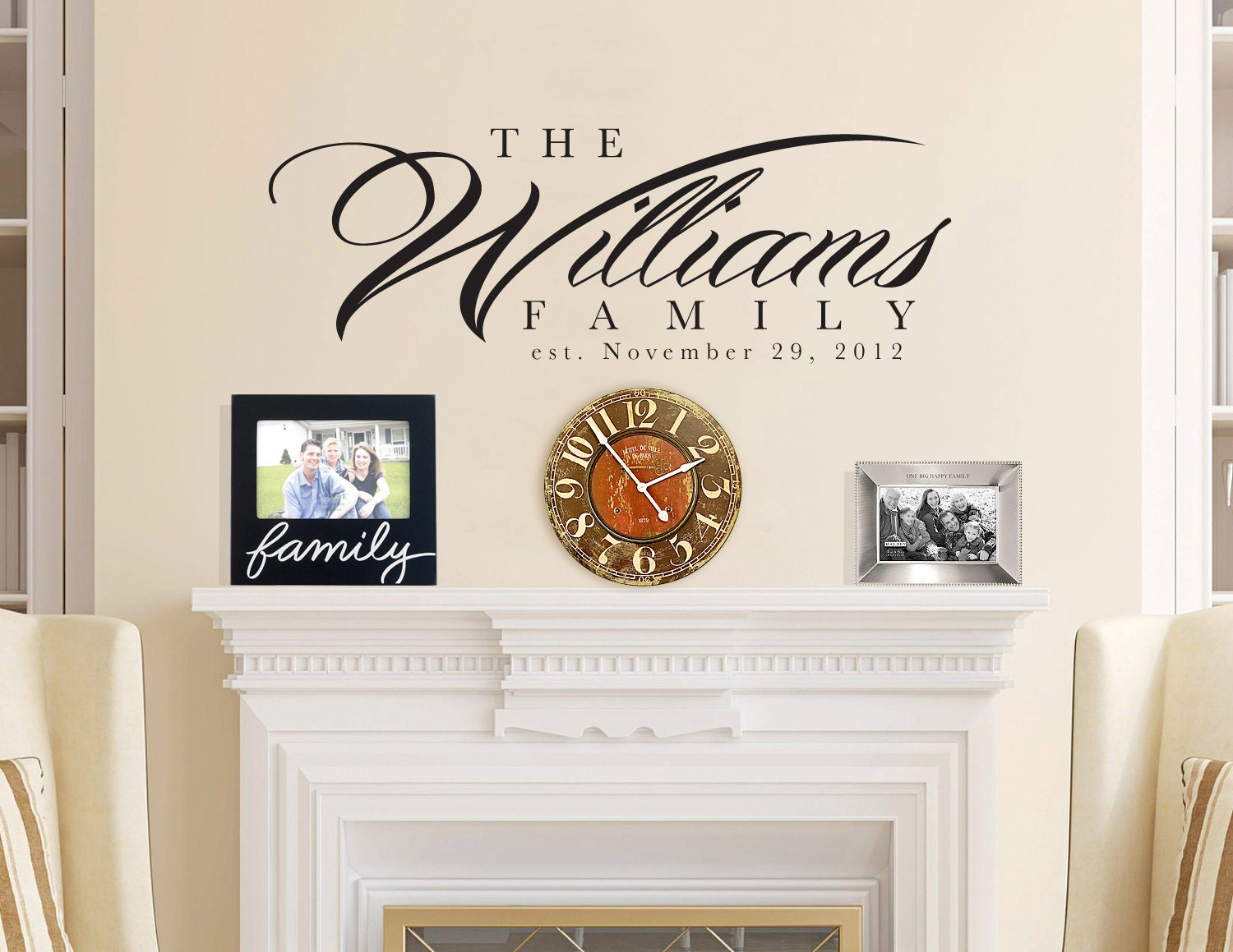 60x22 personalized family last name wall del by for Decor names