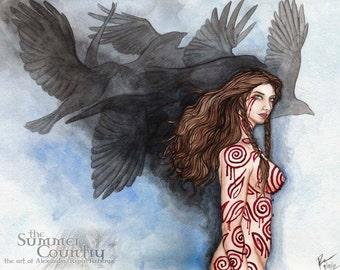 Celtic Gods: The Morrigan -  Print