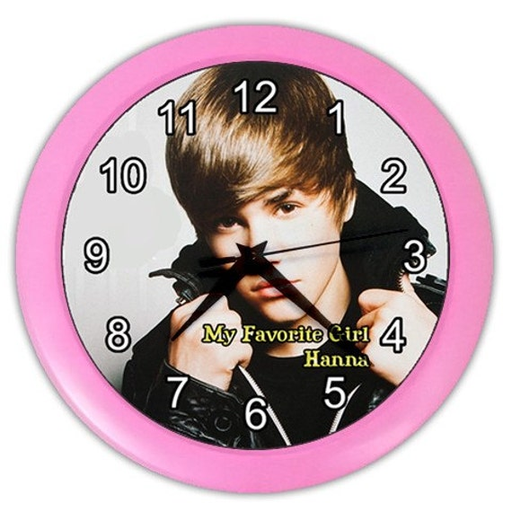 Personalized Justin Bieber Any Name Favorite Girl Wall Clock